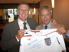 元イングランド代表選手 サー・ジェフ・ハースト氏とアルフレッド
